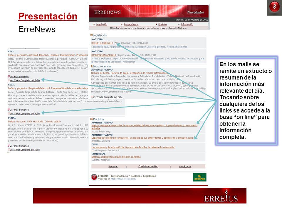 Presentación ErreNews