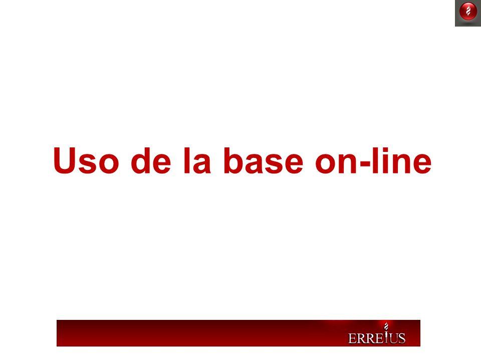 Uso de la base on-line