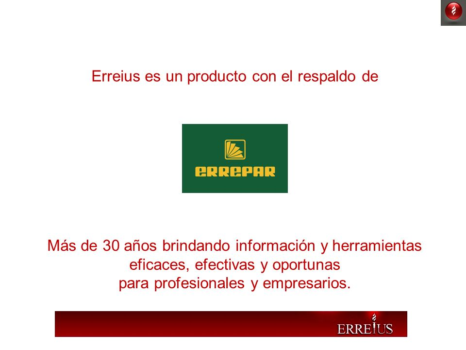 Erreius es un producto con el respaldo de