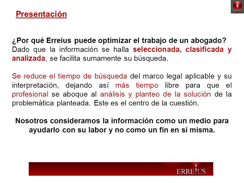 Presentación ¿Por qué Erreius puede optimizar el trabajo de un abogado