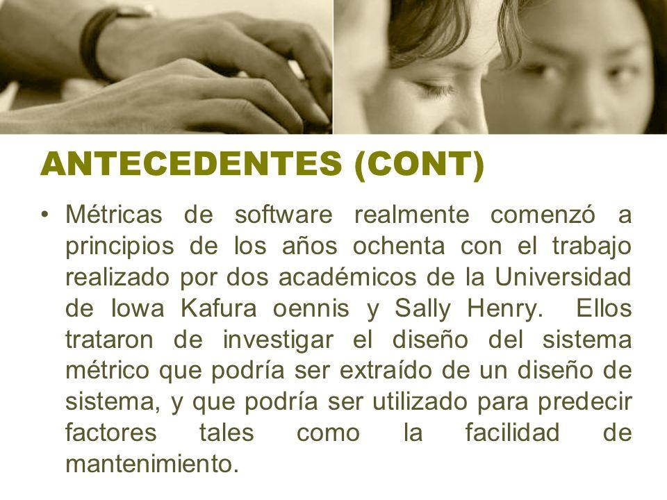 ANTECEDENTES (CONT)