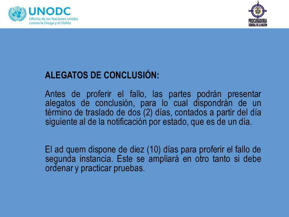 ALEGATOS DE CONCLUSIÓN: