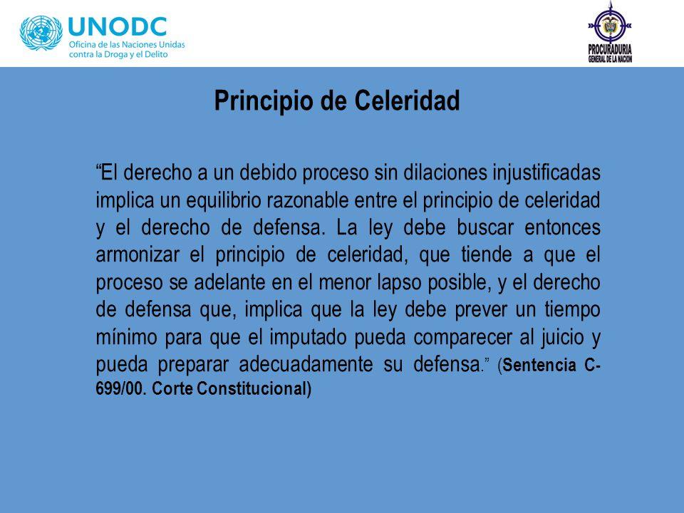 Principio de Celeridad
