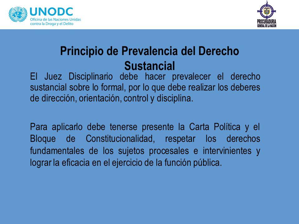 Principio de Prevalencia del Derecho Sustancial