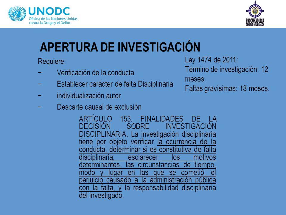 APERTURA DE INVESTIGACIÓN