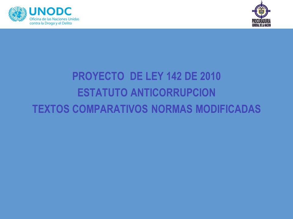 ESTATUTO ANTICORRUPCION TEXTOS COMPARATIVOS NORMAS MODIFICADAS