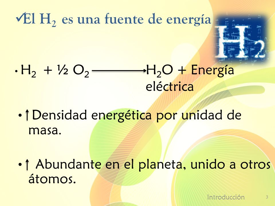 El H2 es una fuente de energía