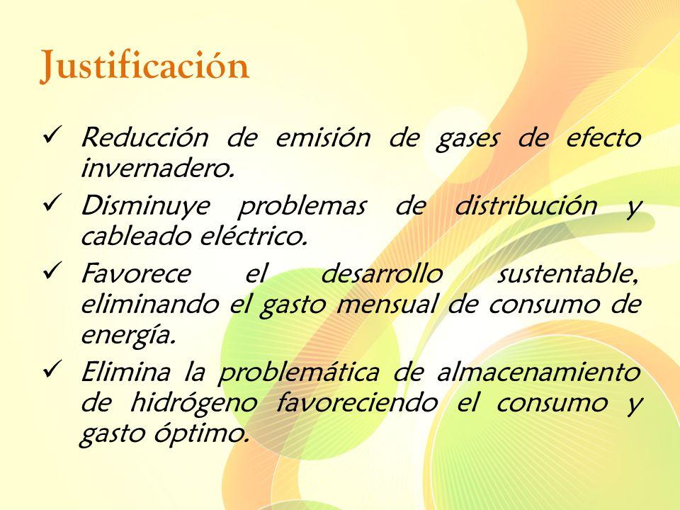 Justificación Reducción de emisión de gases de efecto invernadero.