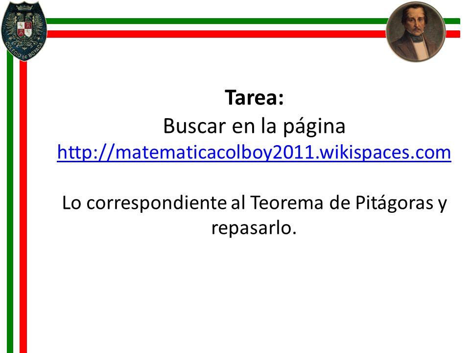 Buscar en la página http://matematicacolboy2011.wikispaces.com
