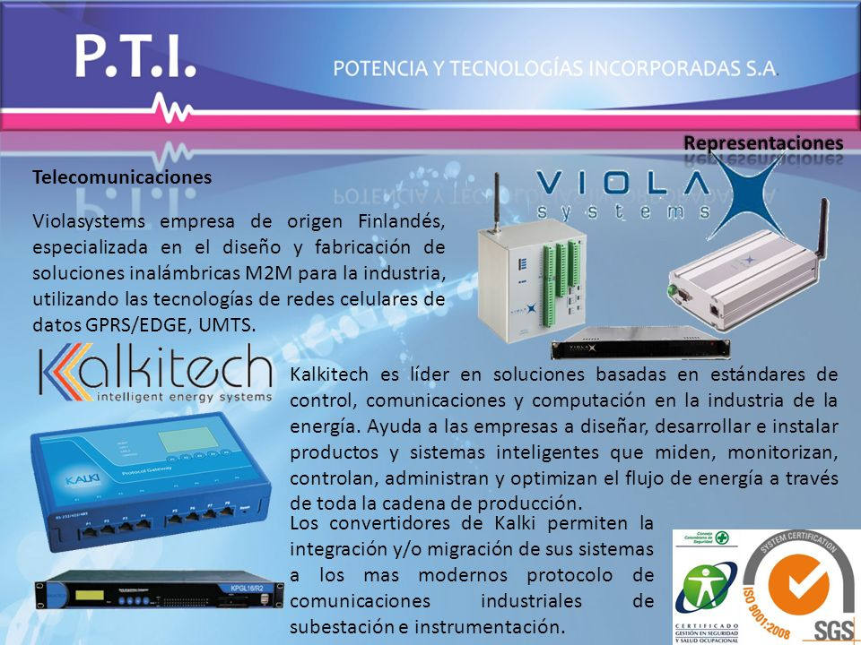 Representaciones Telecomunicaciones.