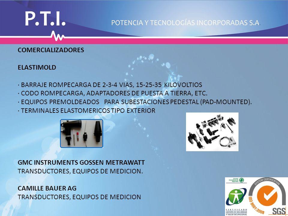 COMERCIALIZADORES ELASTIMOLD. · BARRAJE ROMPECARGA DE 2-3-4 VIAS, 15-25-35 KILOVOLTIOS.