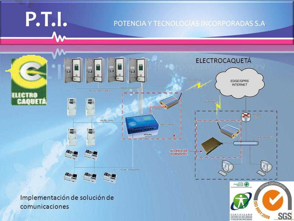 ELECTROCAQUETÁ Implementación de solución de comunicaciones