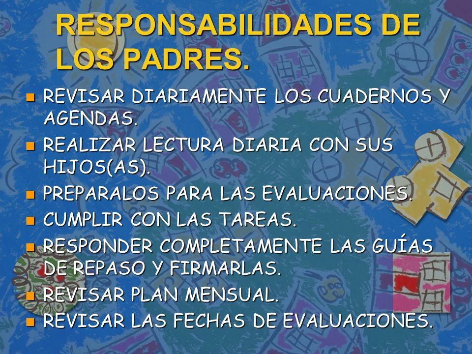 RESPONSABILIDADES DE LOS PADRES.