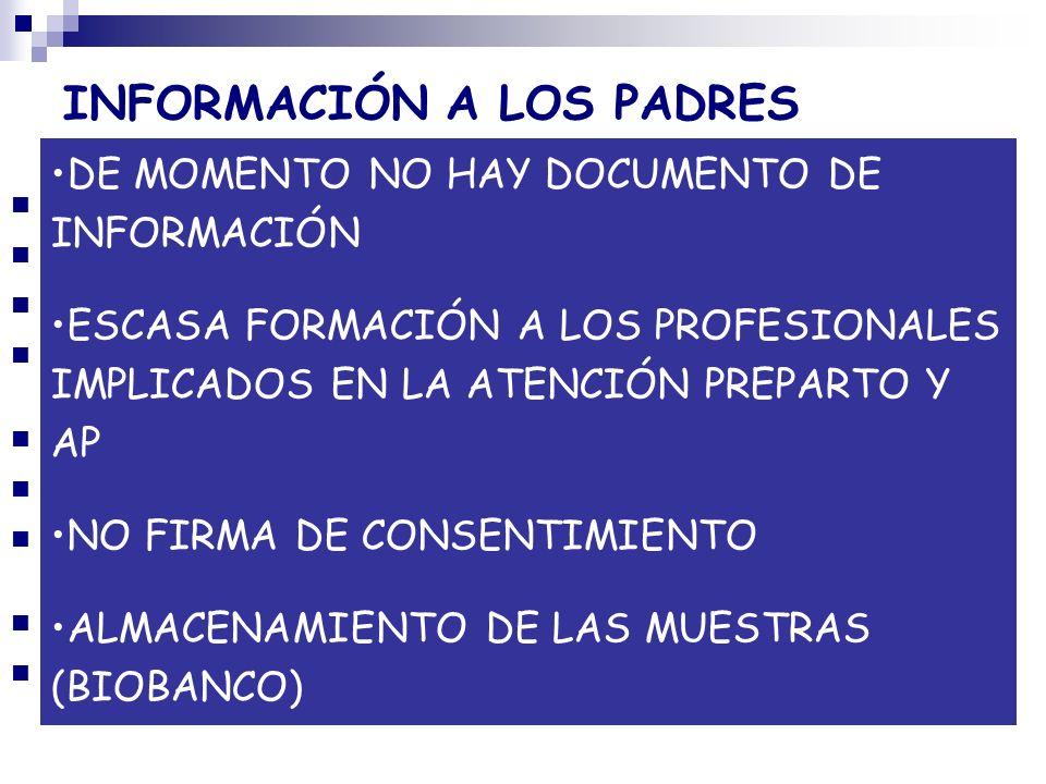 INFORMACIÓN A LOS PADRES
