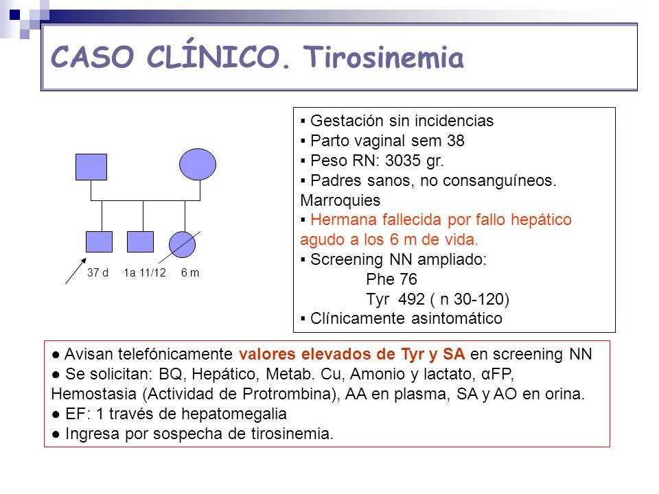 CASO CLÍNICO. Tirosinemia
