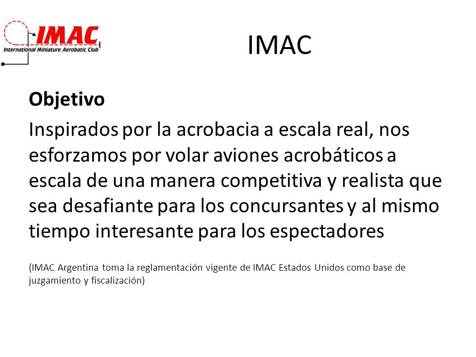 IMAC Objetivo.