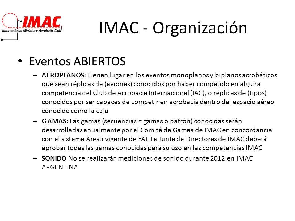 IMAC - Organización Eventos ABIERTOS
