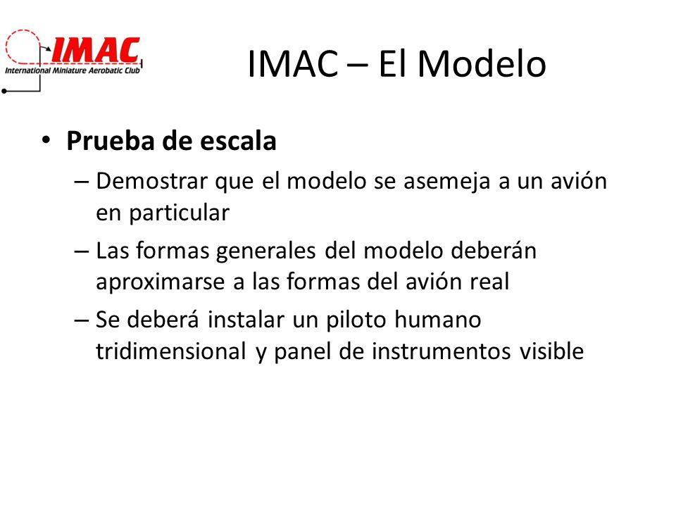 IMAC – El Modelo Prueba de escala