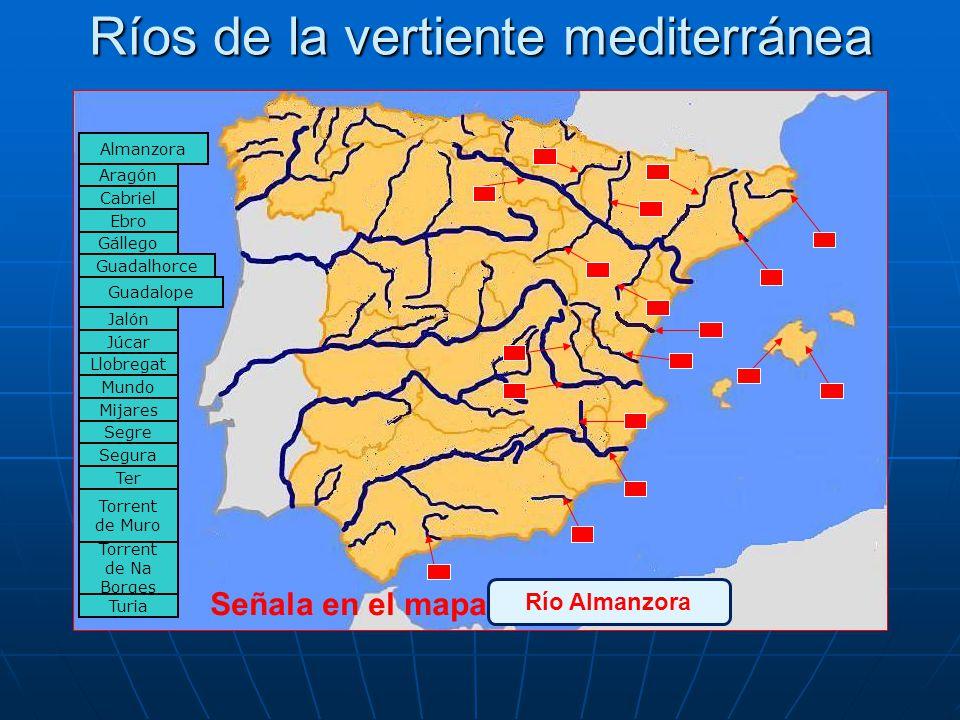 Ríos de la vertiente mediterránea