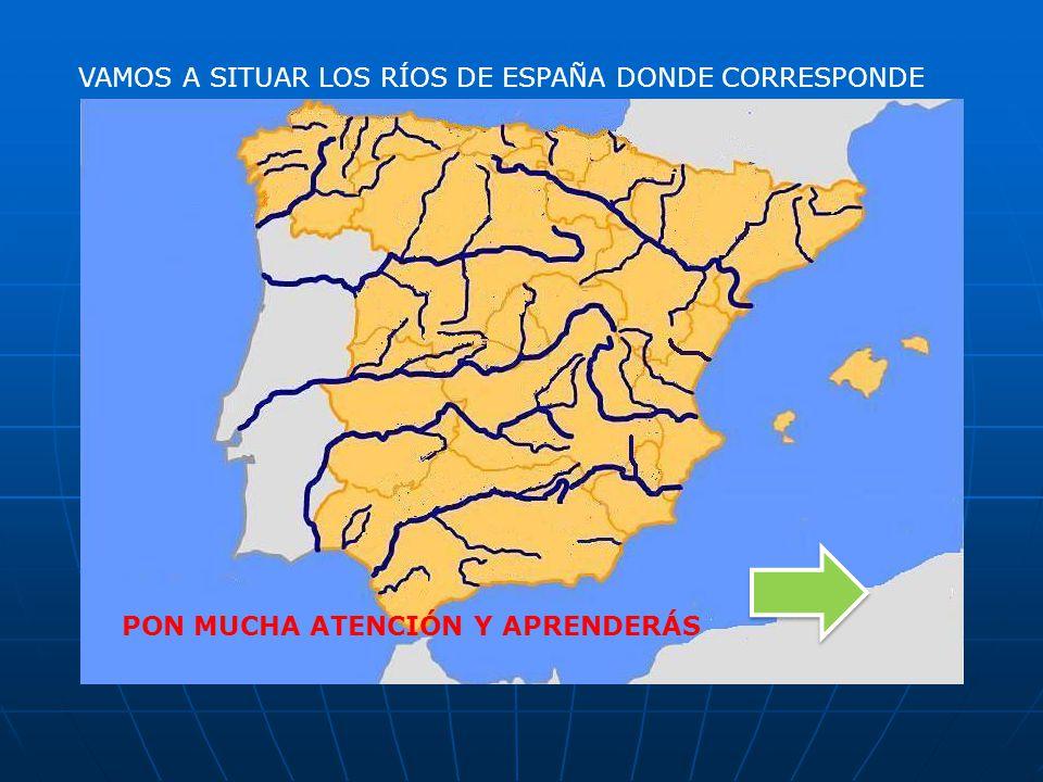 VAMOS A SITUAR LOS RÍOS DE ESPAÑA DONDE CORRESPONDE