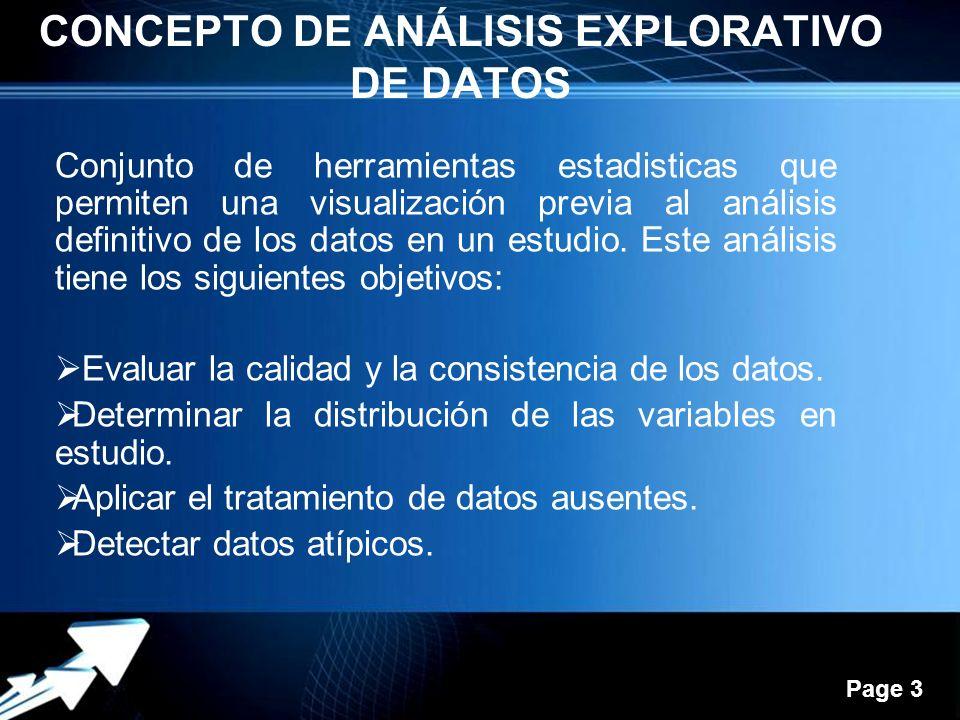 Concepto DE ANÁLISIS EXPLORATIVO DE DATOS