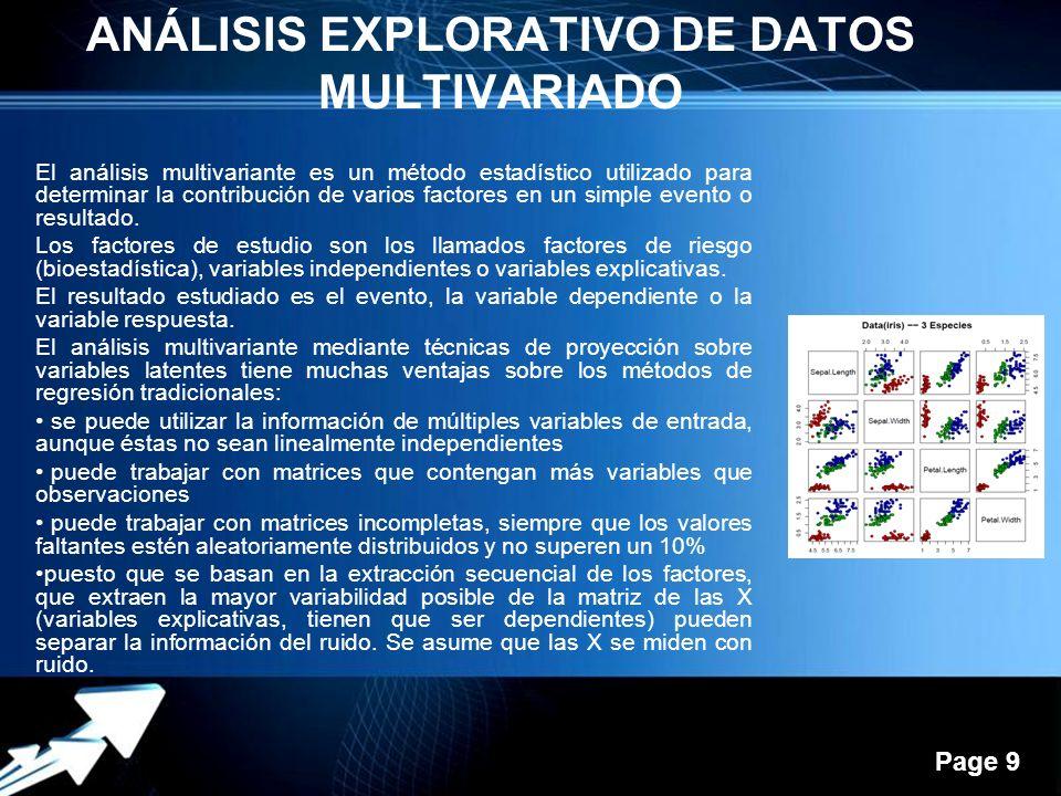 ANÁLISIS EXPLORATIVO DE DATOS MULTIVARIADO