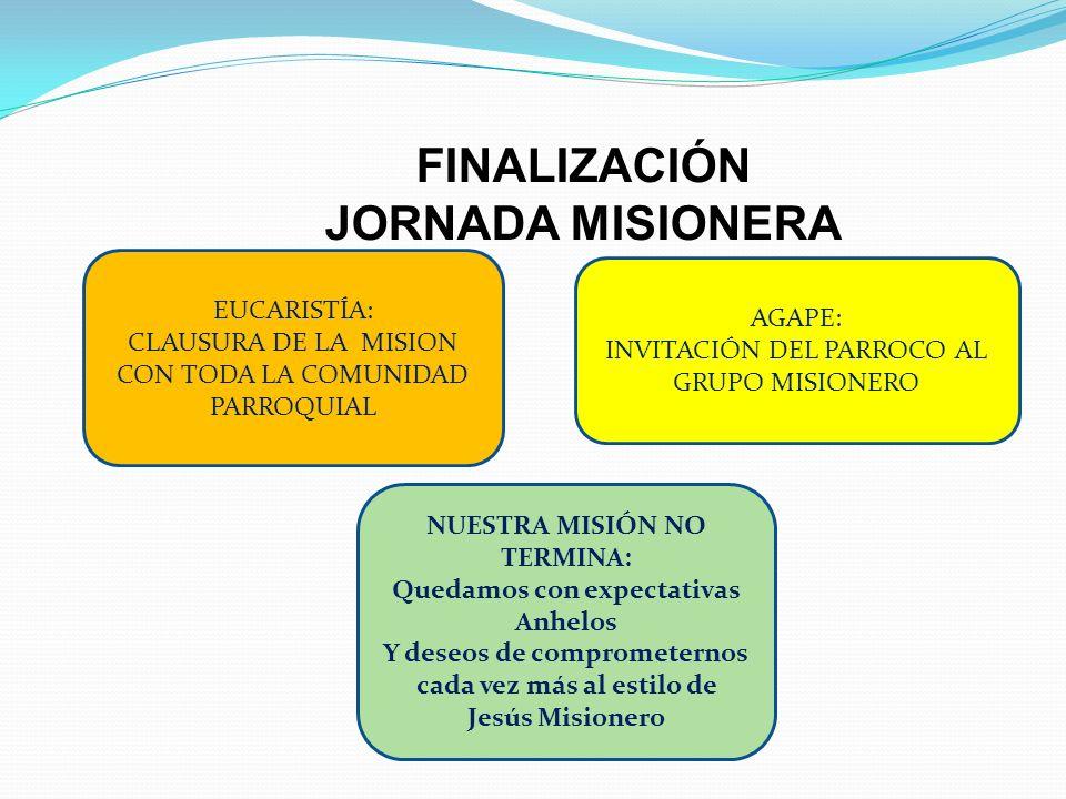 FINALIZACIÓN JORNADA MISIONERA