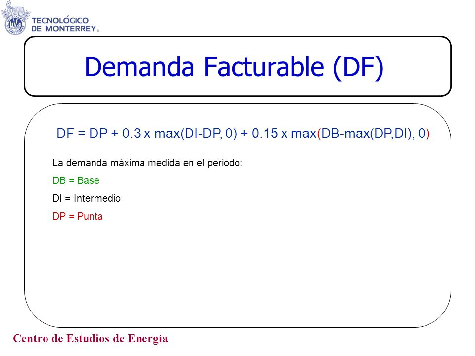 Demanda Facturable (DF)