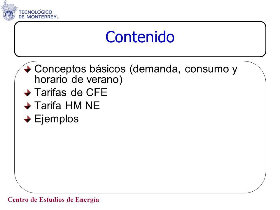 Contenido Conceptos básicos (demanda, consumo y horario de verano)