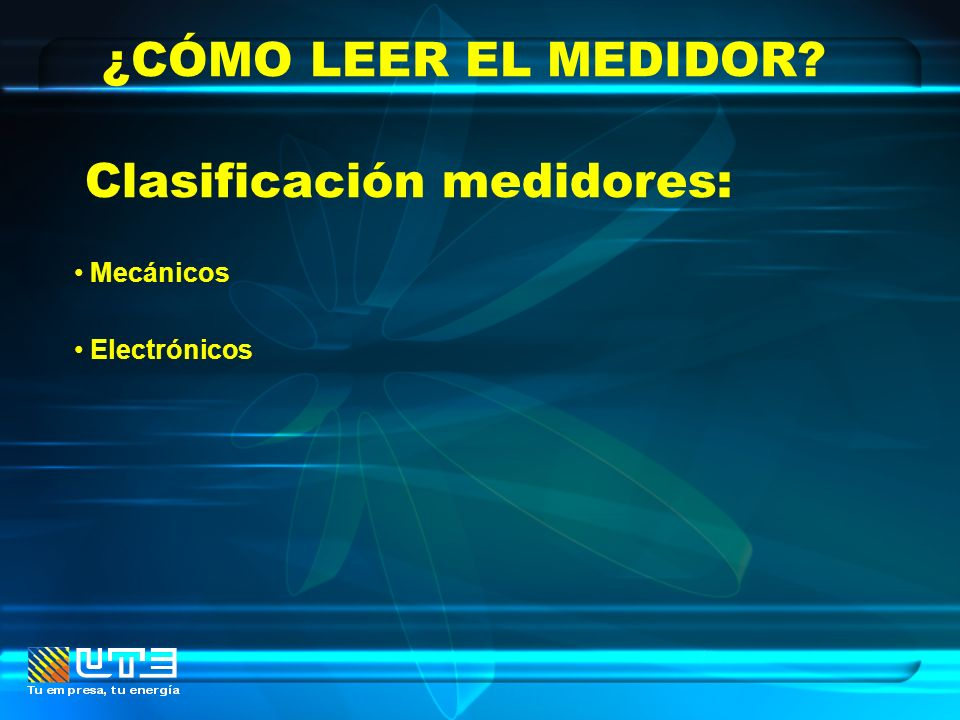 Clasificación medidores:
