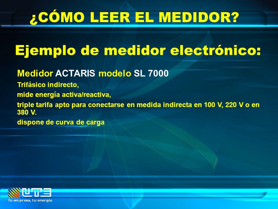 Ejemplo de medidor electrónico: