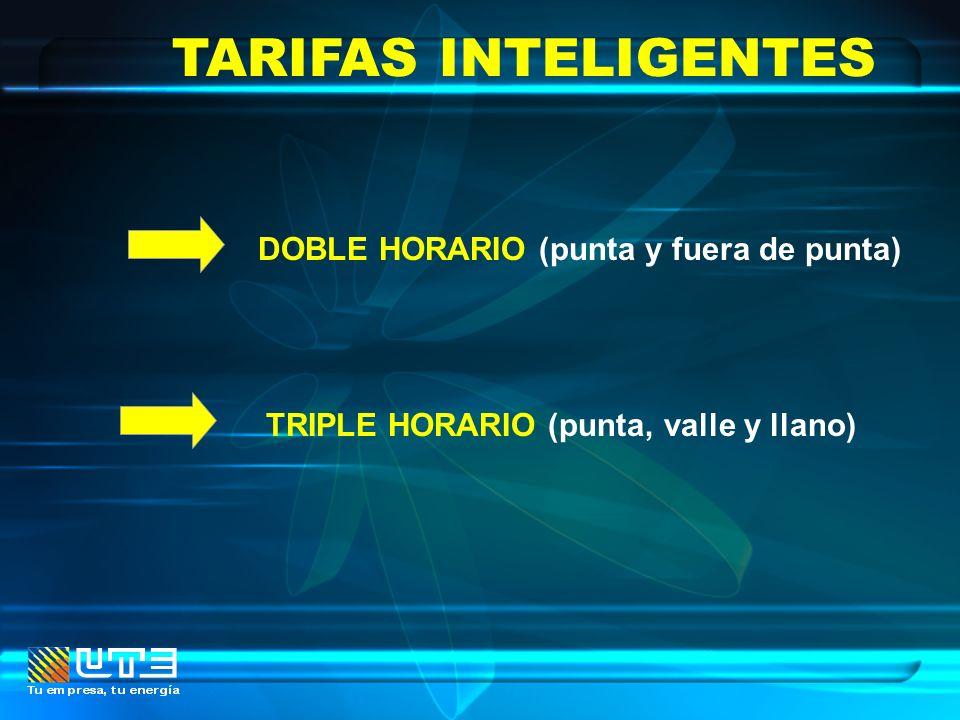 TARIFAS INTELIGENTES DOBLE HORARIO (punta y fuera de punta)