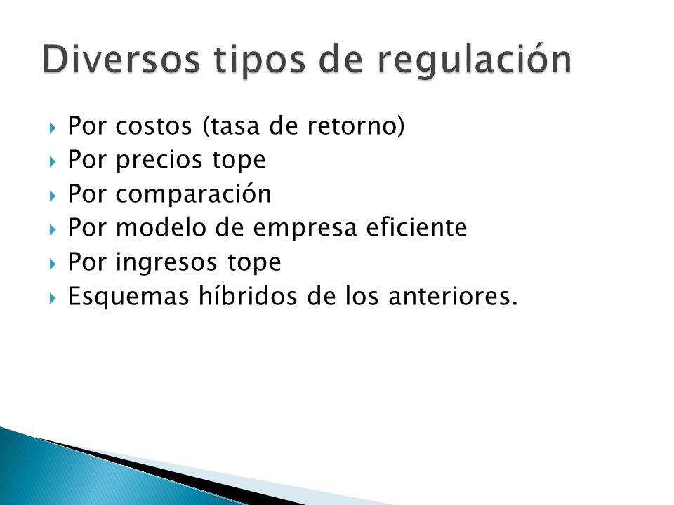 Diversos tipos de regulación