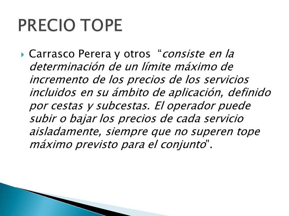 PRECIO TOPE