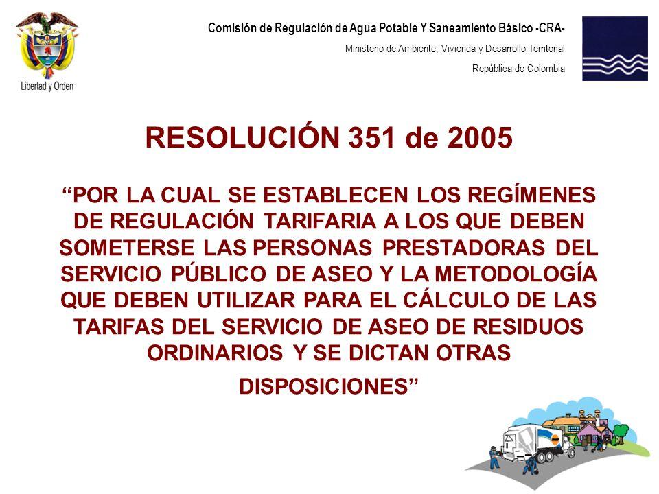 RESOLUCIÓN 351 de 2005