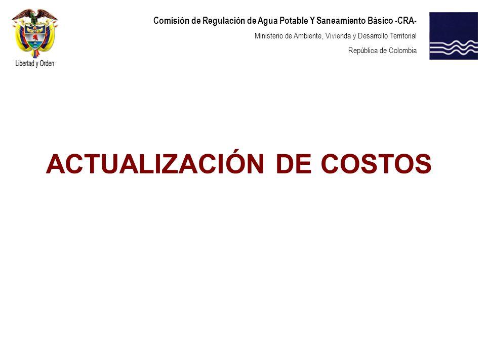 ACTUALIZACIÓN DE COSTOS