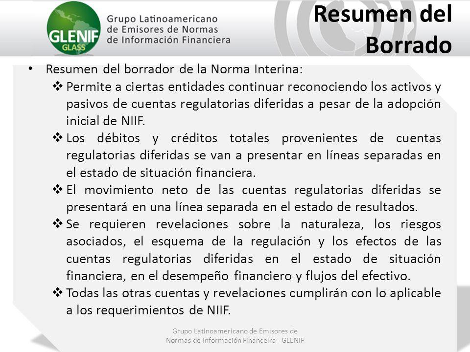 Resumen del Borrado Resumen del borrador de la Norma Interina: