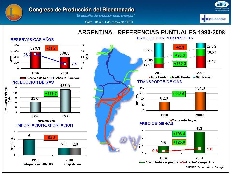 ARGENTINA : REFERENCIAS PUNTUALES 1990-2008