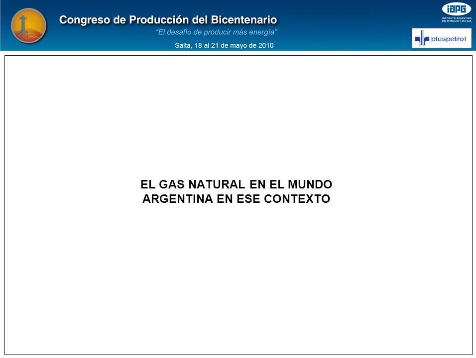 EL GAS NATURAL EN EL MUNDO ARGENTINA EN ESE CONTEXTO