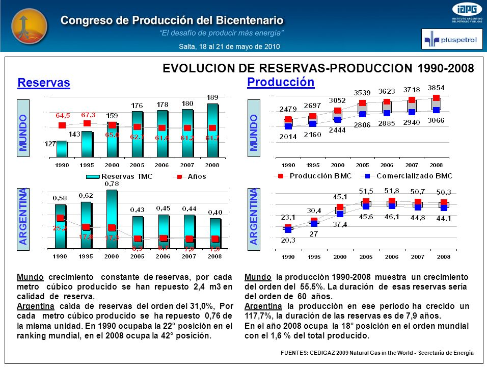 EVOLUCION DE RESERVAS-PRODUCCION 1990-2008