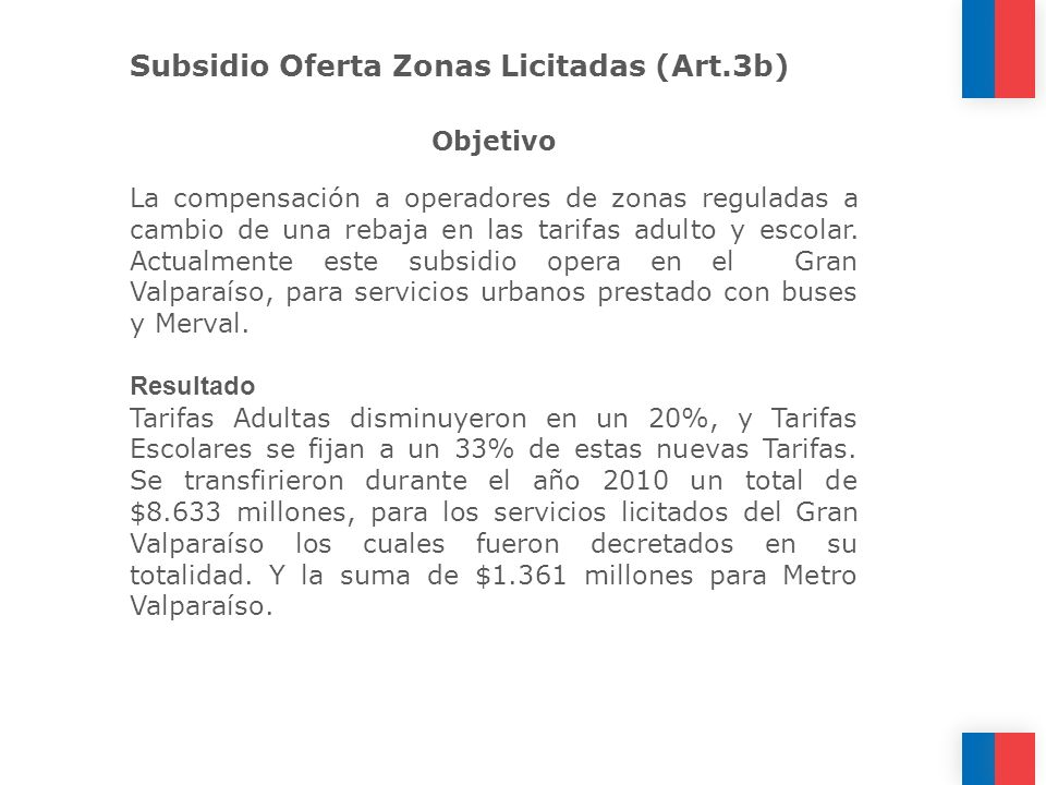 Subsidio Oferta Zonas Licitadas (Art.3b)