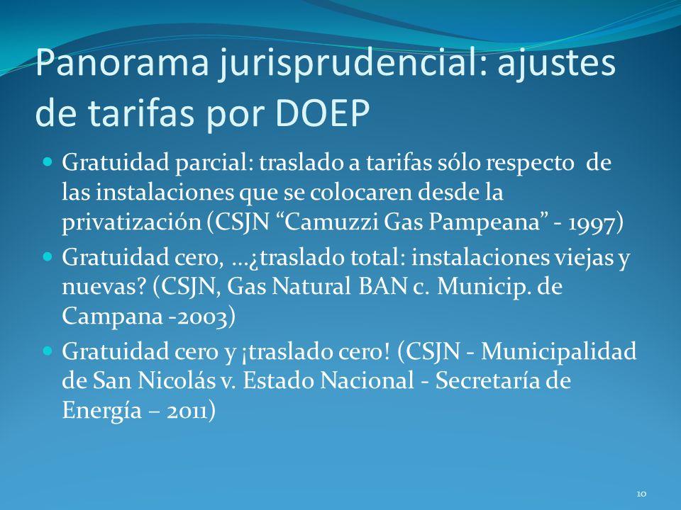 Panorama jurisprudencial: ajustes de tarifas por DOEP
