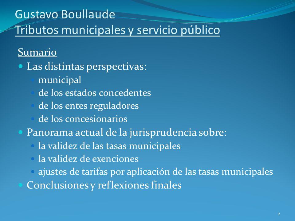 Gustavo Boullaude Tributos municipales y servicio público