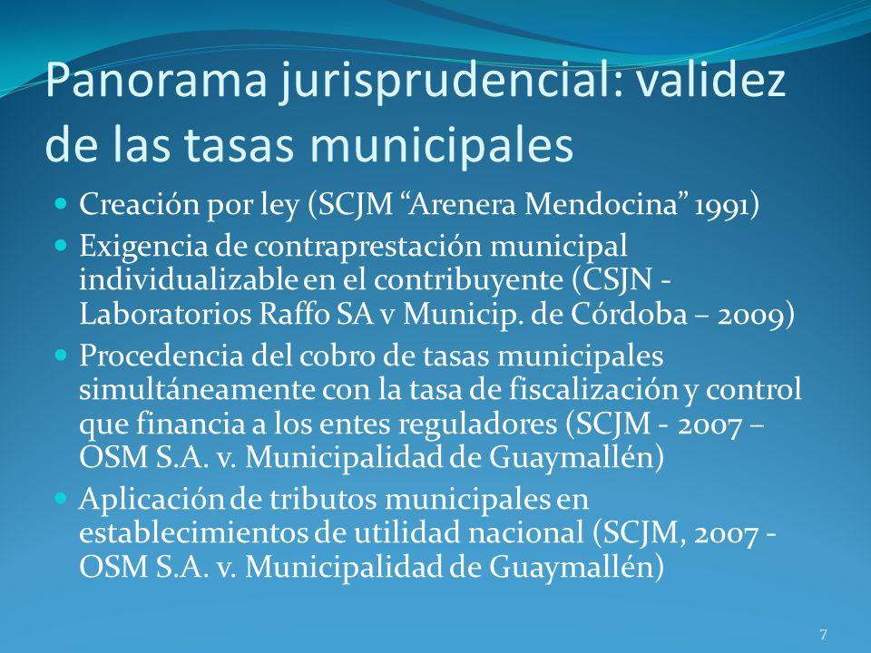 Panorama jurisprudencial: validez de las tasas municipales