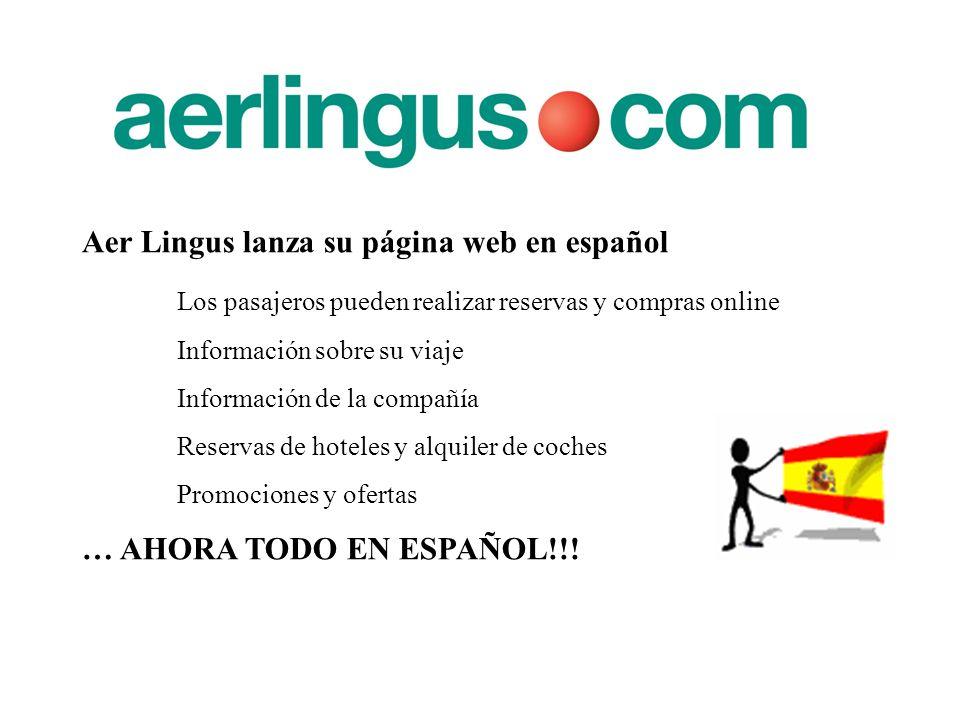 Aer Lingus lanza su página web en español