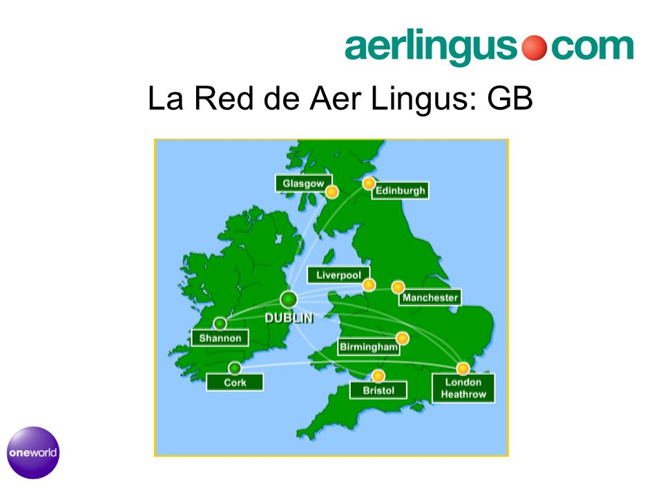 La Red de Aer Lingus: GB