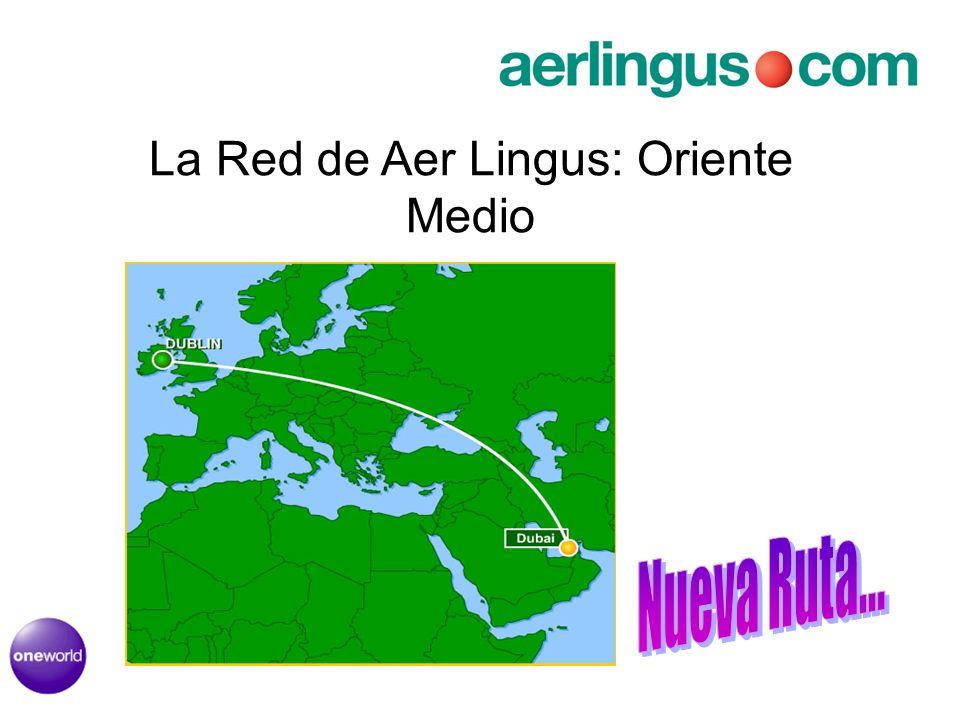 La Red de Aer Lingus: Oriente Medio