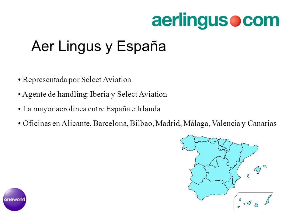 Aer Lingus y España Representada por Select Aviation