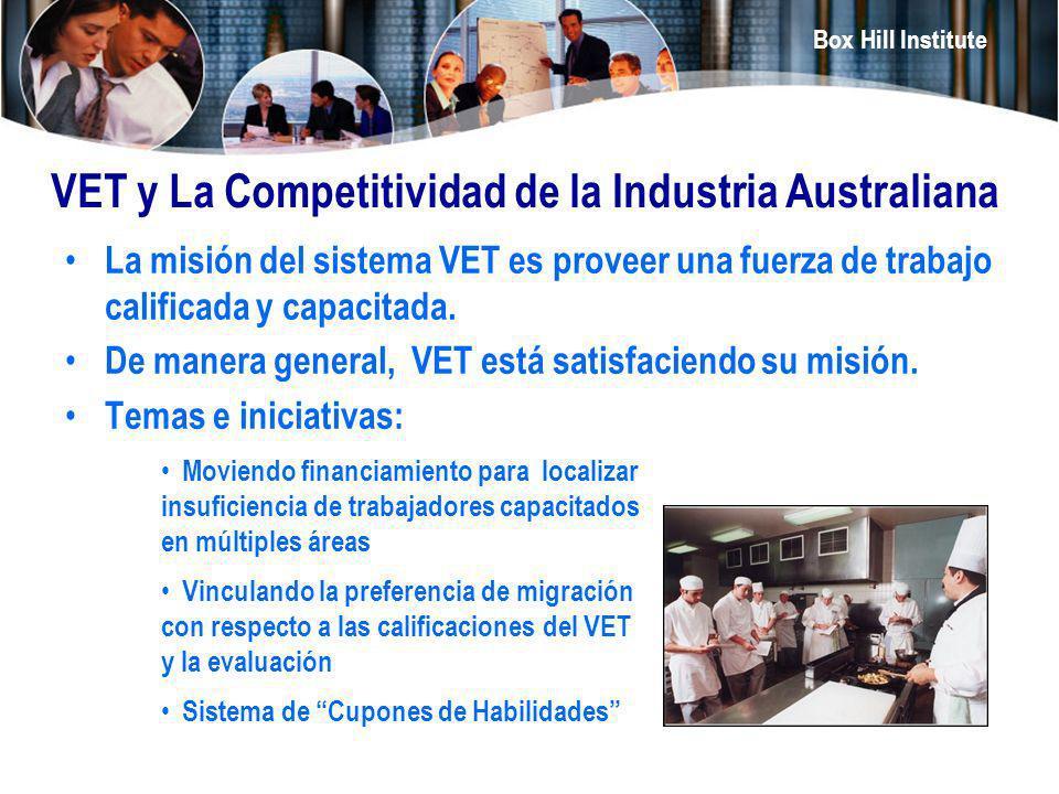 VET y La Competitividad de la Industria Australiana