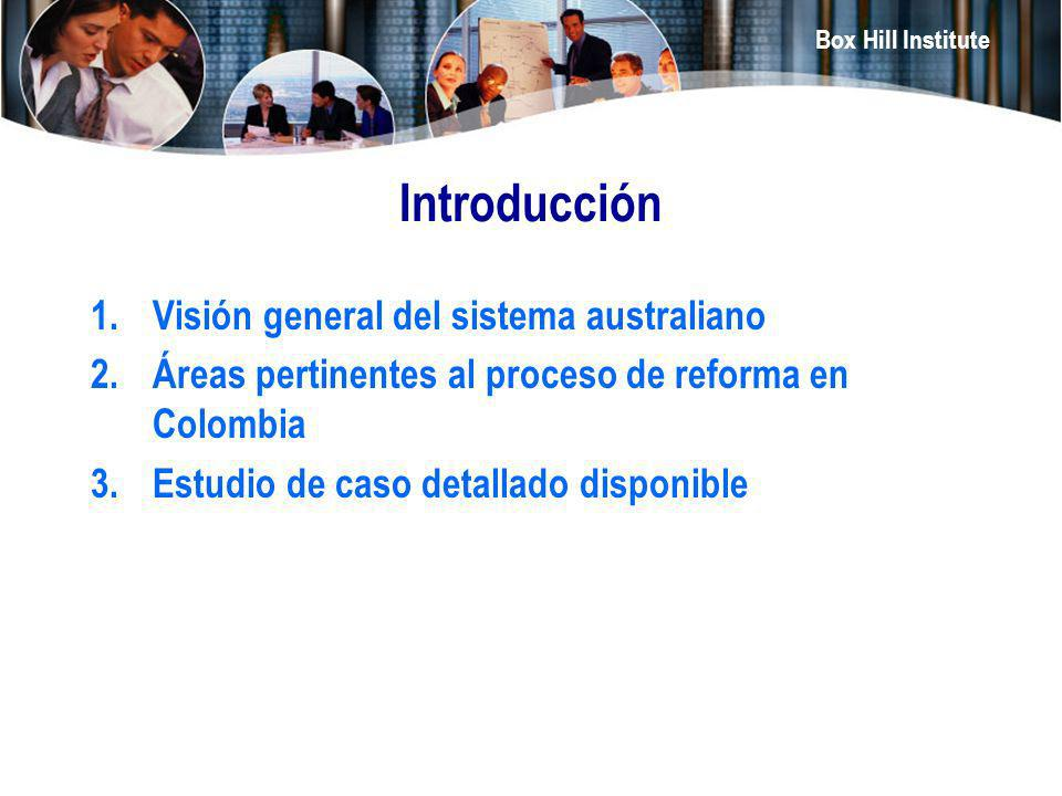 Introducción Visión general del sistema australiano
